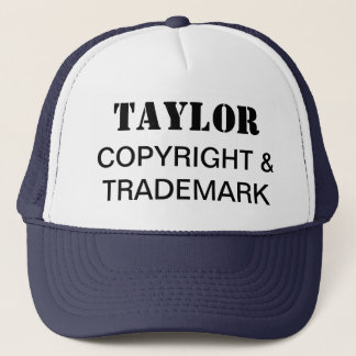 Copyright & Trademark (Your Name) Trucker Hat