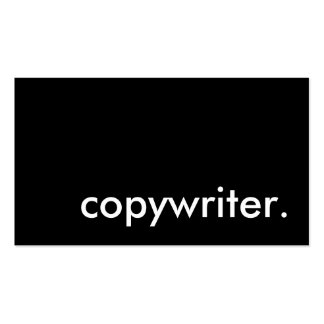 copywriter. pack of standard business cards
