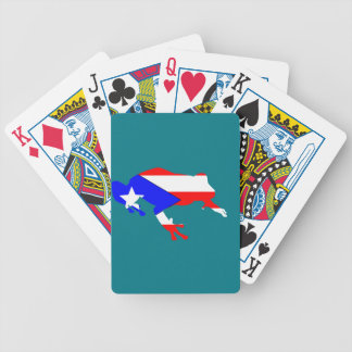coqui flag bicycle playing cards