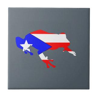coqui flag ceramic tile