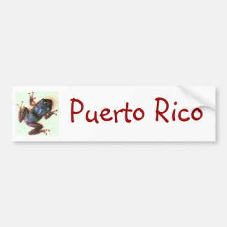 Coqui Puerto Rico Bumper Sticker