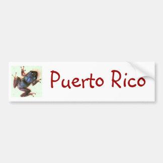 Coqui Puerto Rico Bumper Sticker Car Bumper Sticker