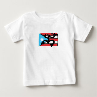 Coqui taíno on flag of Puerto Rico Baby T-Shirt
