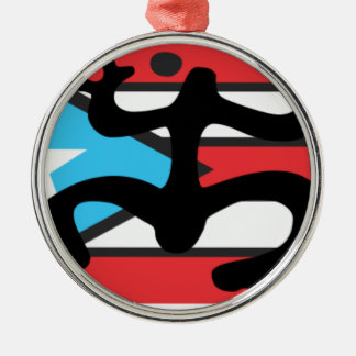 Coqui taíno on flag of Puerto Rico Metal Ornament