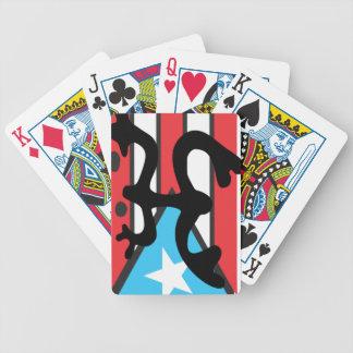 Coqui taíno on flag of Puerto Rico Poker Deck