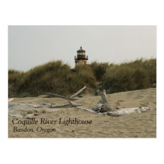 Coquille River Lighthouse, View from the Beach Postcard