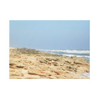 COQUINA BEACH IN FLORIDA Wrapped Canvas Stretched Canvas Prints