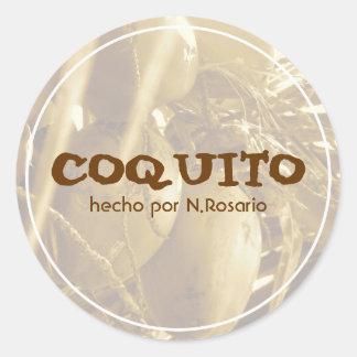 Coquito Puertorriqueño Classic Round Sticker