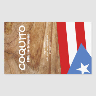Coquito Puertorriqueno Flag Rectangular Sticker