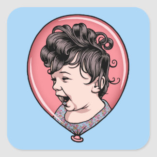 Cora Balloon Square Sticker