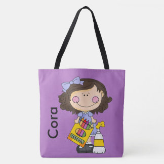 Cora Loves Crayons Tote Bag
