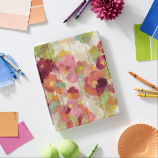 Coral and Emerald Garden iPad Cover