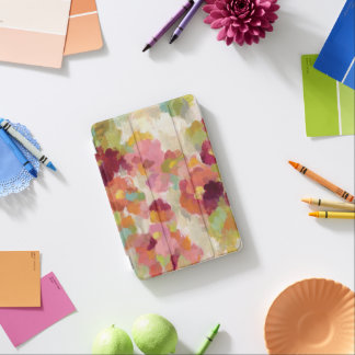 Coral and Emerald Garden iPad Mini Cover