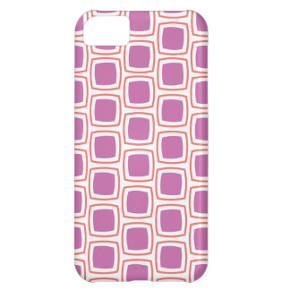 Coral and Orchid Modern Geometric Pattern iPhone iPhone 5C Case