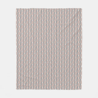 Coral and Pearls Peach Cream Gray Pattern Fleece Blanket