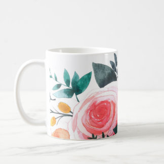 Coral and Pink Roses Coffee Mug
