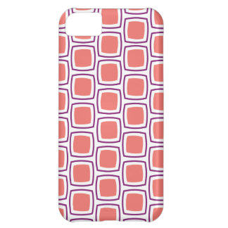 Coral and Purple Modern Geometric Pattern iPhone iPhone 5C Case