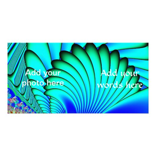 Coral and Sea Fans Fractal Customized Photo Card