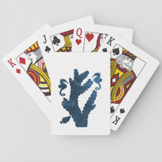 Coral and seahorses playing cards