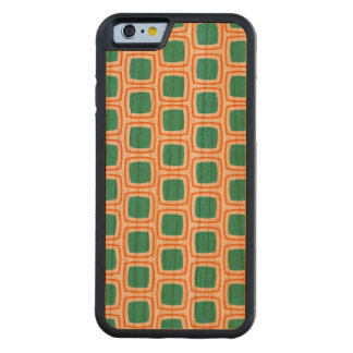 Coral and Teal Modern Geometric Pattern Carved® Cherry iPhone 6 Bumper Case