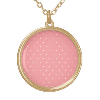 Coral and White Polka Dot Spots Pendants