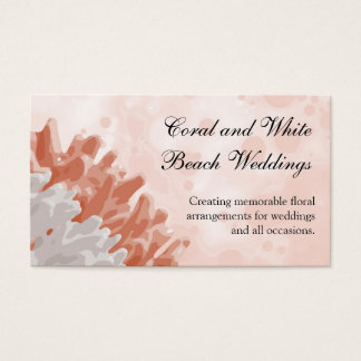 Coral and White Reef Business Card