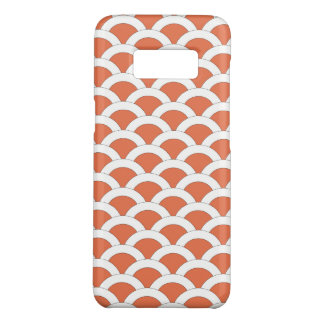 Coral and White Scalloped Shells Pattern Case-Mate Samsung Galaxy S8 Case