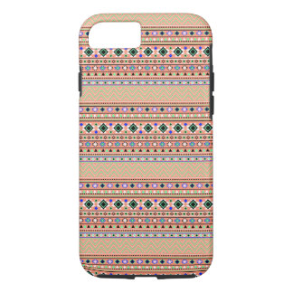 Coral Aztec Tribal Pattern iPhone 7 Case