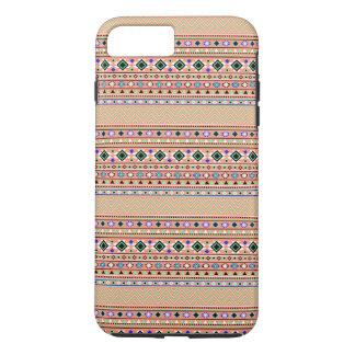 Coral Aztec Tribal Pattern iPhone 7 Plus Case