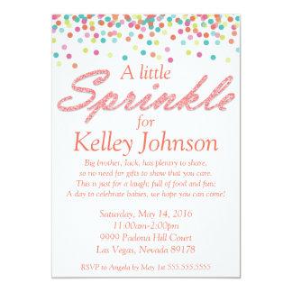 Coral Baby Sprinkle Shower Invite