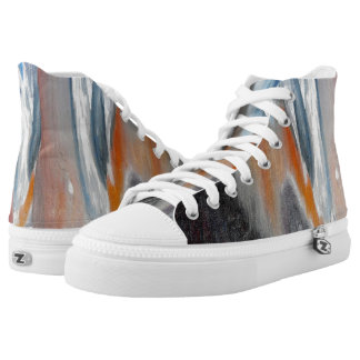 Coral Beach Abstract High Top Shoes