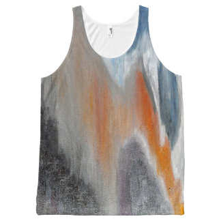 Coral Beach Abstract Tank Top