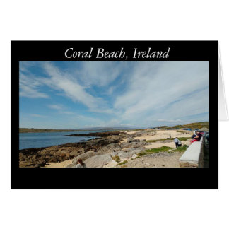 Coral Beach, Galway. Ireland Card