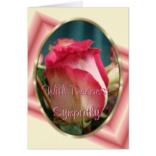 Coral BiColor Rose -customise any occasion Card