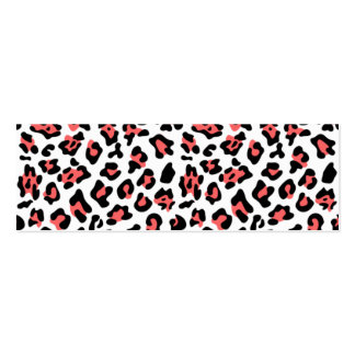 Coral Black Leopard Animal Print Pattern Business Card Templates