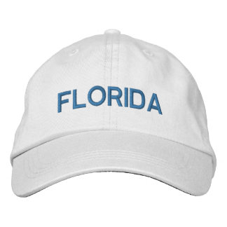 CORAL BLUE Florida Hat Embroidered Baseball Cap