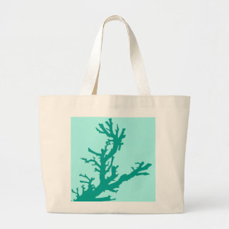 Coral branch - turquoise and aqua tote bag