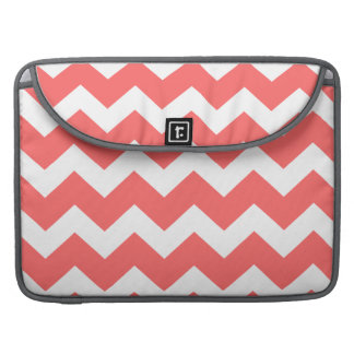 Coral  chevron zig zag Macbook Pro Laptop Case Sleeves For MacBook Pro