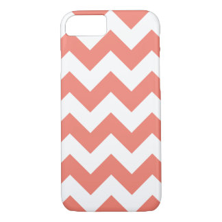 Coral Chevron Zigzag iPhone 7 Case