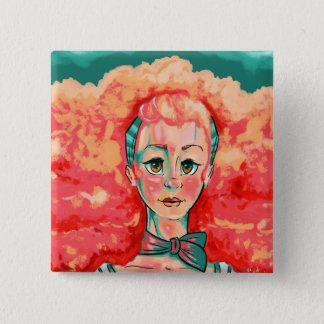 Coral Cloud 15 Cm Square Badge