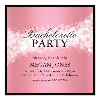 Coral Confetti Bachelorette Party Invitation