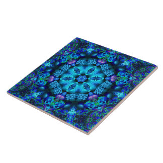 Coral Cornucopia Mandala Tile