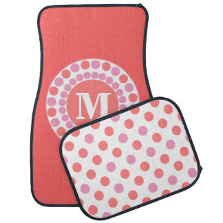 Coral Custom Monogram Car Mats