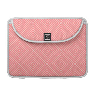 Coral Diamond Pattern Sleeves For MacBooks