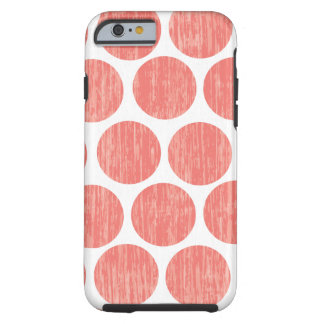 Coral Distressed Polka Dot iPhone 6 Tough iPhone 6 Case