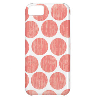 Coral Distressed Polka Dot iPhone iPhone 5C Case