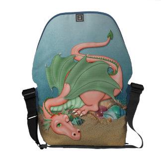 Coral Dragon Ocean Fantasy Messenger Bags