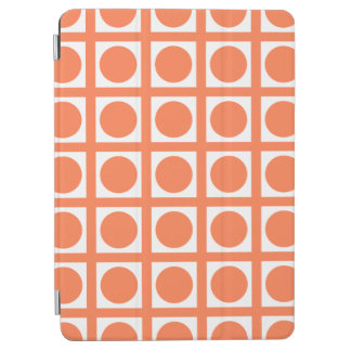 Coral Elegant Grid Dots iPad Air Cover