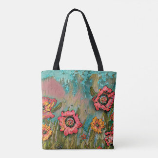 Coral Fields tote