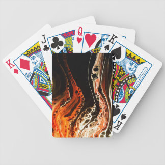 Coral Flame Bicycle Playing Cards